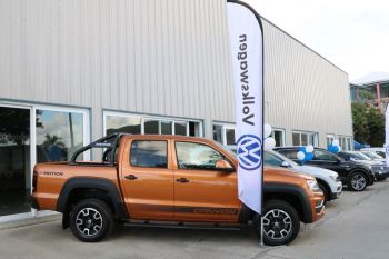 The Volkswagen Amarok (pickup) drew lots of attention at the launch of Volkswagen yesterday, March 25, 2019. Photo: VINO