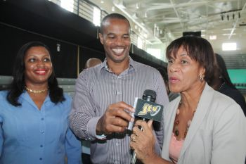 Members of the Rotary Club of Tortola Ingrid A. Moses and President Henry O. Creque along with Assistant District Governor Mrs Delma Maduro anticipates a positive impact from the forum. Photo: VINO