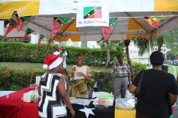 A food booth representing St Kitts and Nevis. Photo: VINO