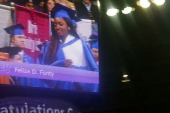 Above: Feliza seen at her graduation from Texas Christian University (TCU). Photo: supplied