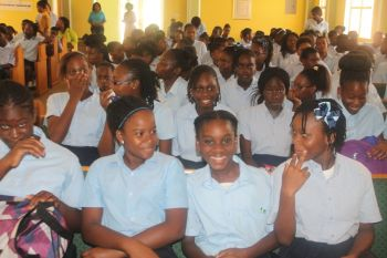 The pews of the New Testament of Hope Church, Virgin Gorda were ram-packed with students from the two secondary schools of Virgin Gorda and Anegada as they participated in the second leg of the Rotary Club of Tortola 2014 edition of their Youth Forum. Photo: VINO