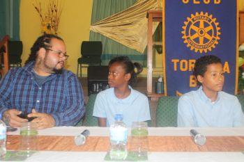 Scene of the Virgin Gorda leg of Rotary Club of Tortola annual Youth Forum held on September 3, 2014. Photo: VINO