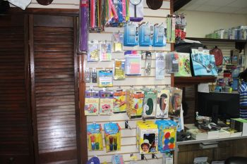 Some of the items on sale at the National Educational Services Co. Ltd store. Photo: VINO
