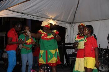 A group from Grenada doing their piece. Photo: VINO