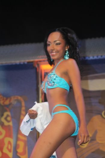 Contestant #4 Rosanna Chichester in swim wear. Photo: VINO