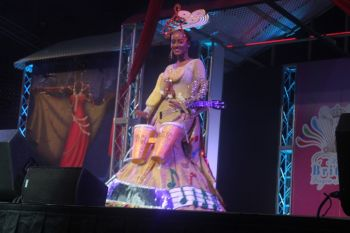 Contestant #2 Brianna Henley, seen here in Cultural Costume, is the Runner-Up at the Miss BVI 2013/14 Pageant. Photo: VINO