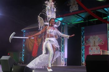 Contestant #3 Mekyla Phillips in cultural costume. Photo: VINO