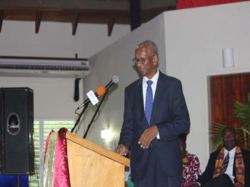 Premier Dr The Honourable D. Orlando Smith (AL) urged the Class of 2017 to lend their fresh knowledge in helping the Territory to become a better place. Photo: VINO