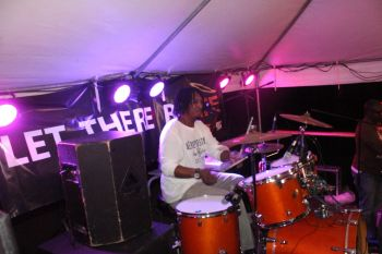The drummer keeping the beat alive. Photo: VINO