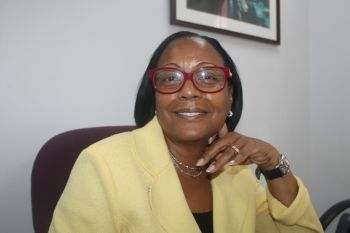 The historic event is forever etched in the memory of Mrs. Rosemarie Flax who was the first local to sit in the seat as manager in the Financial Services Industry sector in the Virgin Islands. Photo: VINO