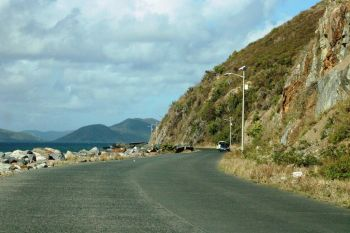 A section of Sir Francis Drake Highway in the area of Cox Heath. Photo: VINO