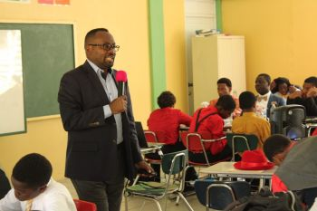 Stewardship Director, Pastor Hesketh Matthews during one of his presentations. Photo: VINO