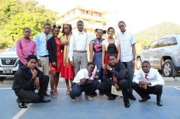 Secondary school students of the BVI Seventh-day Adventist School in Sea Cows Bay, Tortola, swapped their regular school uniforms for gold or red business attire on Thursday, January 30, 2020 as they were given a break from the usual class sessions to listen to a number of professionals deliver on how they could improve their personal and social development as emerging leaders. Photo: VINO