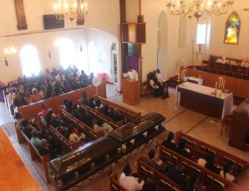 Scenes from Clevaughn M. Sweeney and Jerome N. L. Chiddick funeral service on March 10, 2018. Photo: VINO/File