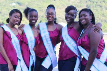 The contestants in the Miss Fifth Form Pageant this year are #1 Akeila Louis, #2 La'Quan Reid, #3 Kadian Johnson, #4 Sherise Stapleton and #5 Armoy James. Photo: VINO