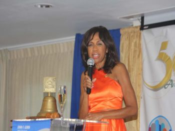 First Lady and Past President, Lorna G. Smith, OBE, commented that the new president and her board of directors are very qualified to lead the Rotary Club of Tortola. Photo: VINO