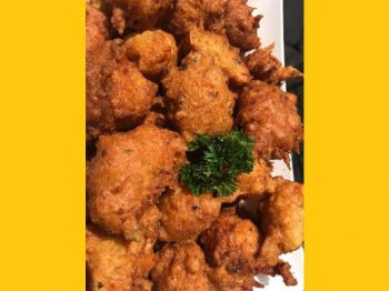 Speciality Saltfish Fritters prepared as part of the catering services of Nadz Savory Delights. Photo: Provided