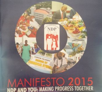 The National Democratic Party (NDP) 2015 manifesto was launched on May 30, 2015. Photo: VINO