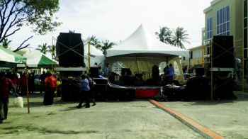 The stage were the performances for the opening are being done. Photo: VINO