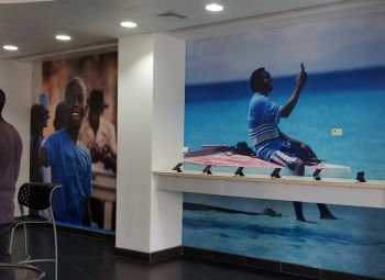 The new look walls inside the Flow flagship store. Photo: VINO