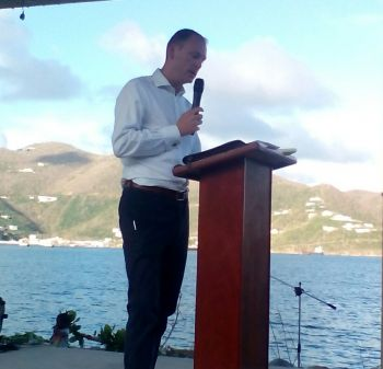 Governor Augustus J. U. Jaspert commented that he is amazed with the resilience of the people of the territory on there hard work to rebuild the Virgin Islands. Photo: VINO