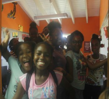 More of Ms Delight S. A. Bagot's students during their lunch break at Youth Empowerment Project (YEP). Photo: VINO