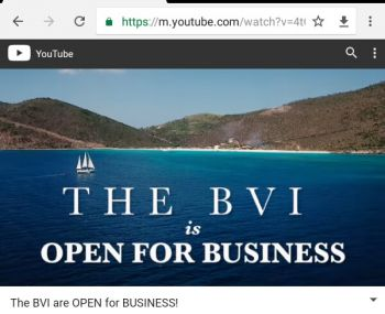 Premier Dr The Honourable D. Orlando Smith (AL) was heavily criticised for his 'open for business' statement made a month ago during a press conference. Photo: YouTube