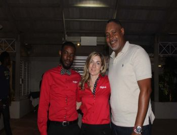 From left: Andy A. Jeffers, Marketing Executive at Digicel, Jayne A. Gray, Head of Branding at Digicel and Leroy A. E. Abraham, General Manager of BVI Electricity Corporation (BVIEC). Photo: VINO