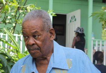Respected and retired politician of the Virgin Islands Honourable Ralph T. O'Neal, OBE has made a call for Government to tangibly honour Mr and Mrs William and Josephine Rhymer for their historic union of marriage. Photo: VINO
