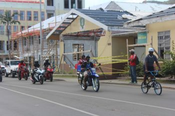 Scooter and bicycle riders arriving at the 'A Ride for Life' event held at the parking lot of Sunny Caribbee in Road Town on Saturday March 25, 2018. Photo: VINO