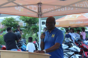 Mr McKenzie L. Baltimore Sr., Vice President of M.A.L.E., expressed that the aim of the initiative is to 'send a strong message' to riders to let them know how important it is for them to wear protective gears while they are riding. Photo: VINO