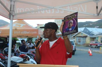 Joseph A. Chapman, father of Jo-vahn A. Chapman who died as a result of a motorcycle accident speaking to the youths about riding safe on the road through the story of his son. Photo: VINO