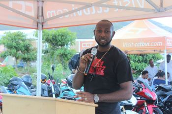 Kennedy D. J. Emmanuel, President of 284 Reverz, pointed out during the ceremony that the safety of motorcycle riding should be 'top priority', adding that riding a motorcycle is different from driving a car. Photo: VINO