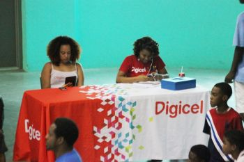 One of the Sponsors, Digicel, on site. Photo: VINO