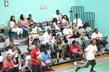 Some of the spectators of the game between Bayside Blazers 1 and Bayside Blazers 2. The former won to advance to the final against Kings. Photo: VINO