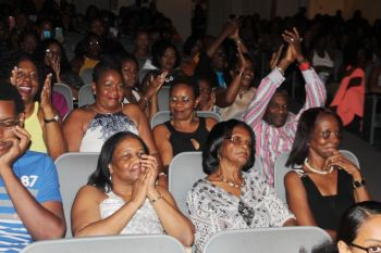 A section of the audience at Miss World BVI pageant on October 3, 2015. Photo: VINO