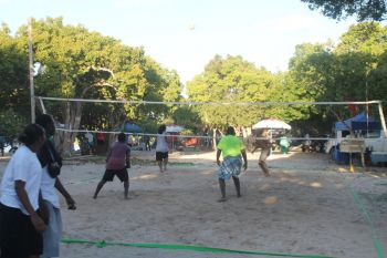 It was a day of fun and games including lots of volleyball. Photo: VINO