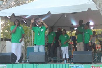 Members of GRATE BVI Music alliance introduced to the crowd. Photo: VINO