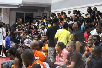 Basketball fans came out in large numbers for the opening games of the 3rd Annual Julian Fraser Save the Seed League on August 15, 2015. Photo: VINO