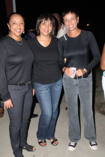Pretty ladies all in a row at the party in Sea Cows Bay last night, January 19, 2013. Photo: VINO
