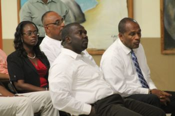 The meeting was called and attended by Minister for Communications and Works Honourable Mark H. Vanterpool. Eighth District Representative Honourable Marlon A. Penn was also present. Photo: VINO