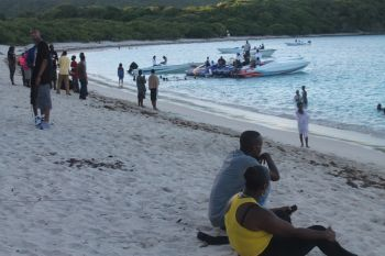 A scene from the GO GREEN Family Fun Day Beach Fest event which was held on the Long Bay Beach. Photo: VINO