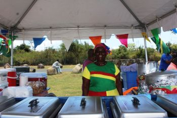Glennie A. Ferguson aka 'Momma Africa', whose booth mainly caters to vegetarians stated that she has been participating in the VG Festival for 2 years. Photo: VINO