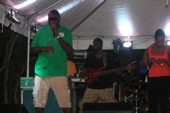 Eustace 'Boss' Freeman doing his thing on stage. Photo: VINO