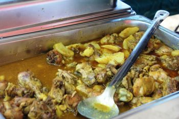 Curry chicken Guyanese style at the VG Easter Festival Food Fair. Photo: VINO