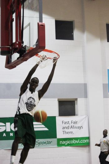 Dione M. Blyden is expected to be a major feature for Bayside Blazers in the playoffs. Photo: VINO