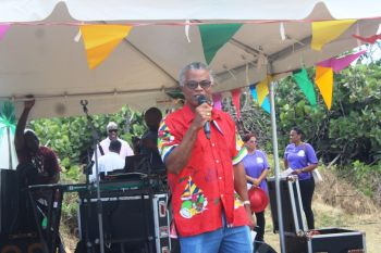Dr The Honourable Hubert R. O'Neal, Ninth District Representative, stated that despite the difficult circumstances, he wishes for everyone to enjoy the events that are scheduled for the VG Easter Festival. Photo: VINO
