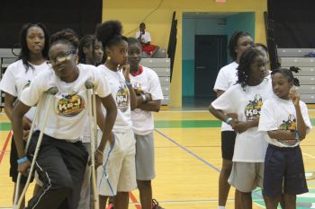 Some of the girls that participated in the K&J 3 on 3 tournament. Photo: VINO