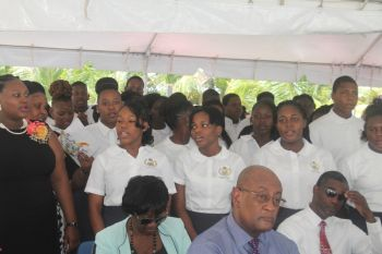 "According to Hon Walwyn the Virgin Islands School of Technical Studies is as much an opportunity for the Virgin Islands as it is for our students. ""I want to tell the present students of this institution that you will play a very important role in the overall development of this institution and how our Territory will from this day on, view careers in the trade field. We have provided you with what might possibly be the best-equipped school in the Territory, but beyond the smart boards and iPads, students we need you to take your role seriously,"" he said. Photo: VINO"