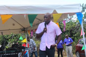 Honourable Myron V. Walwyn (AL), Minister for Education and Culture, indicated that he would have preferred to have a bigger festival to celebrate the different parts of the culture and it also serves as an 'economic stimulus' for the community. Photo: VINO